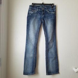 Ariya light wash Embellished pockets Bootcut Jean